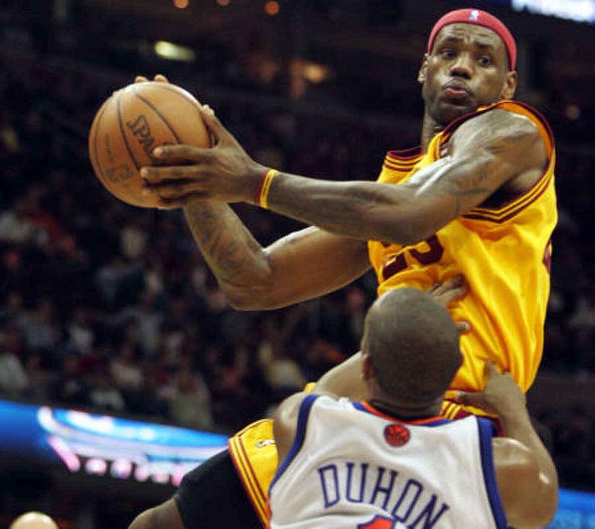 LeBron James , Cleveland Cavaliers, 27.7 ppg