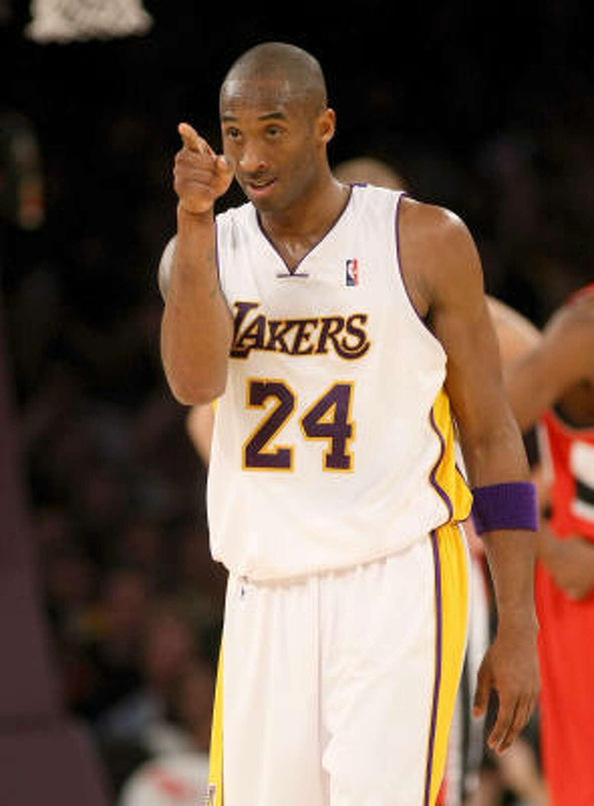 Kobe Bryant , Los Angeles Lakers, 27.0 ppg