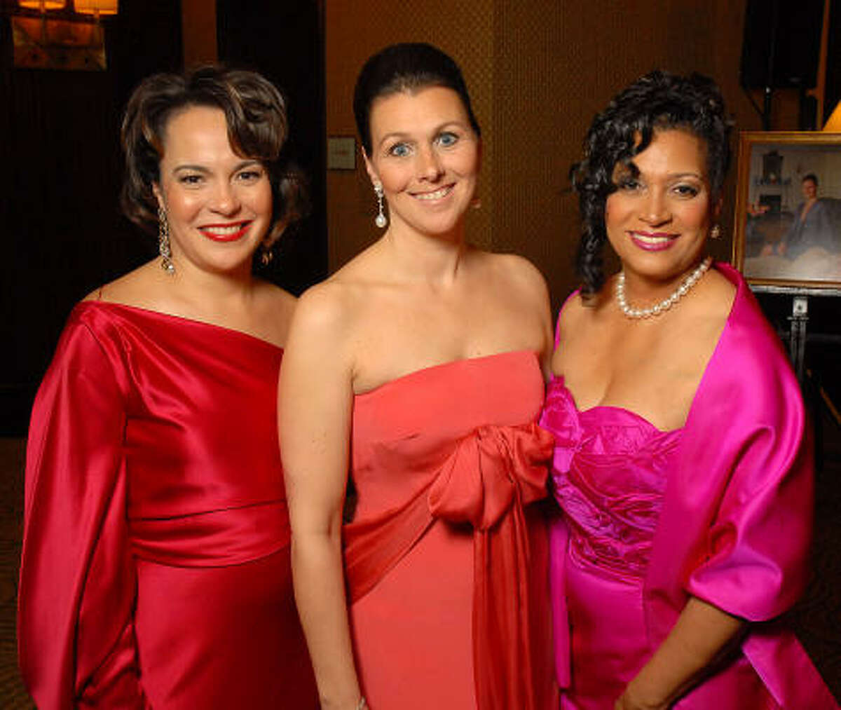 Honorees Rosi Hernendez, from left, Donatella Benckenstein and Cheryl Moore McNair