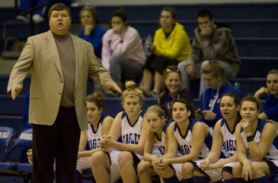 Barbers Hill girls basketball head coach John Cancellor followed his father Van into coaching. Photo: James Nielsen, Chronicle