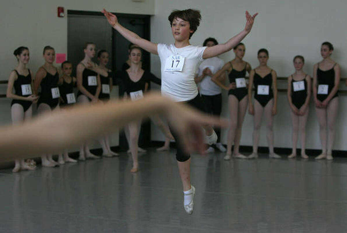 Blane Mader auditions during the School of American Ballet's 2009 Summer Courses at Houston Ballet's Ben Stevenson Academy.