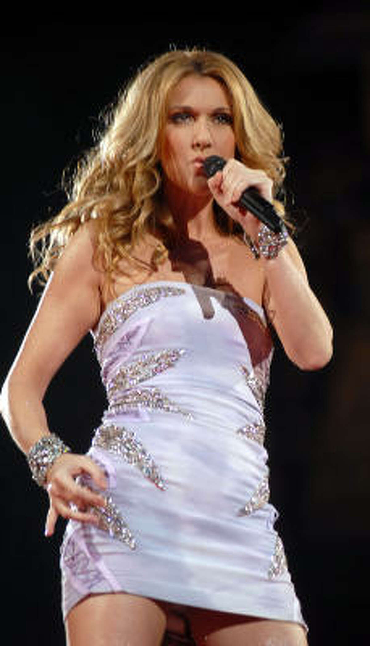 Celine Dion performs at the Toyota Center Friday, Jan. 9.