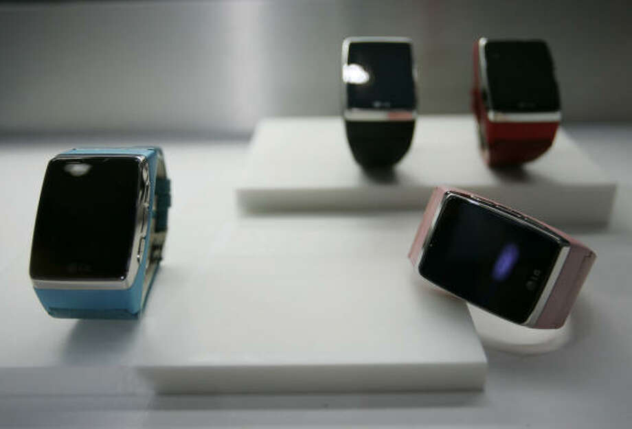 A cell phone watch by LG is shown at the International Consumer Electronics Show in Las Vegas on Jan. 8. Photo: Paul Sakuma, AP