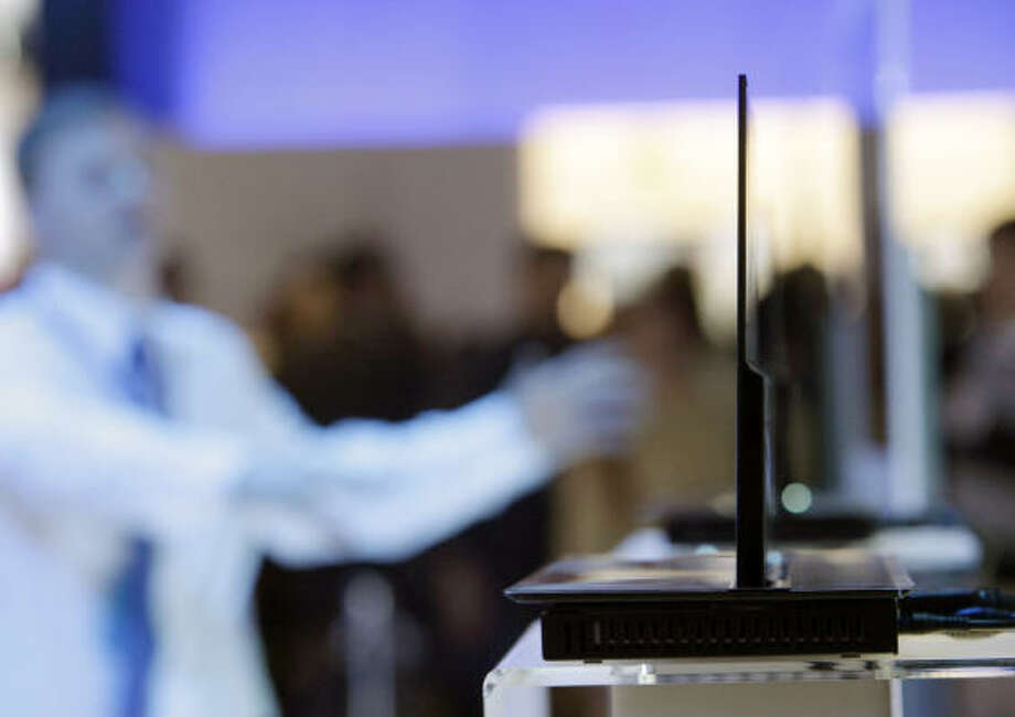 Samsung's OLED TV is shown at the International Consumer Electronics Show in Las Vegas on Jan. 8. Photo: Jae C. Hong, AP
