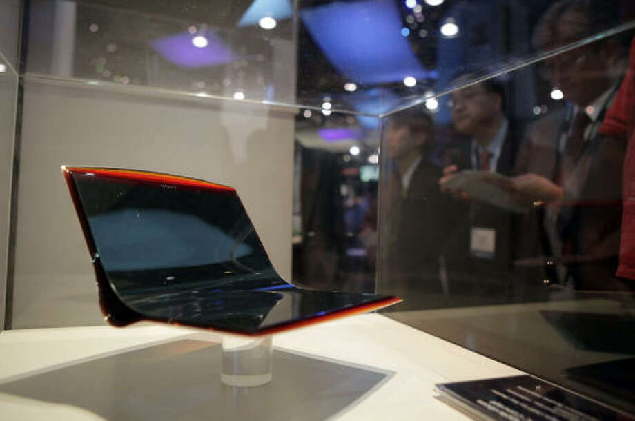 Sony's OLED notebook PC concept is showcased at the International Consumer Electronics Show in Las Vegas on Jan. 8. Photo: Jae C. Hong, AP