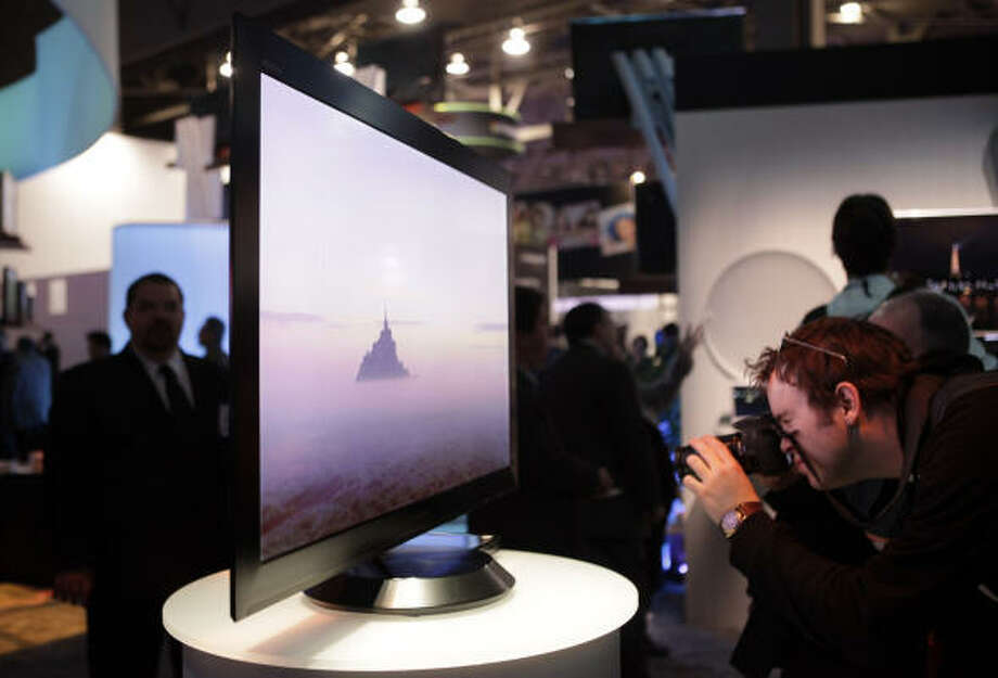 Sony's 9.9mm thick LCD HDTV. Photo: Jae C. Hong, AP