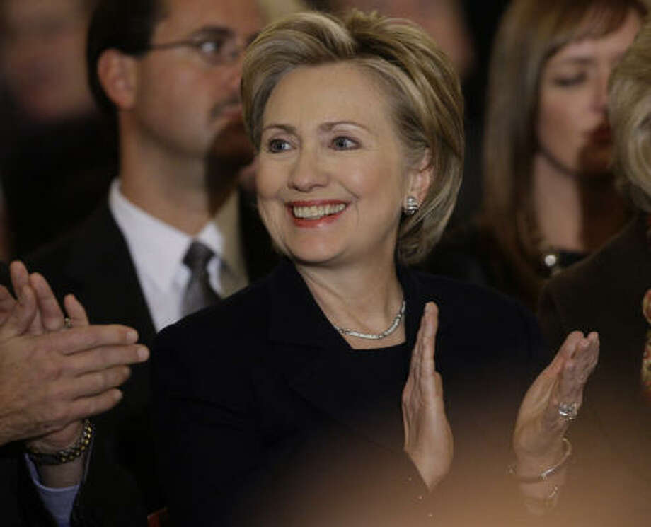 SECRETARY OF STATESen. Hillary Rodham Clinton, D-NY, former first lady and one-time contender for the Democratic presidential nomination Photo: Carolyn Kaster, AP