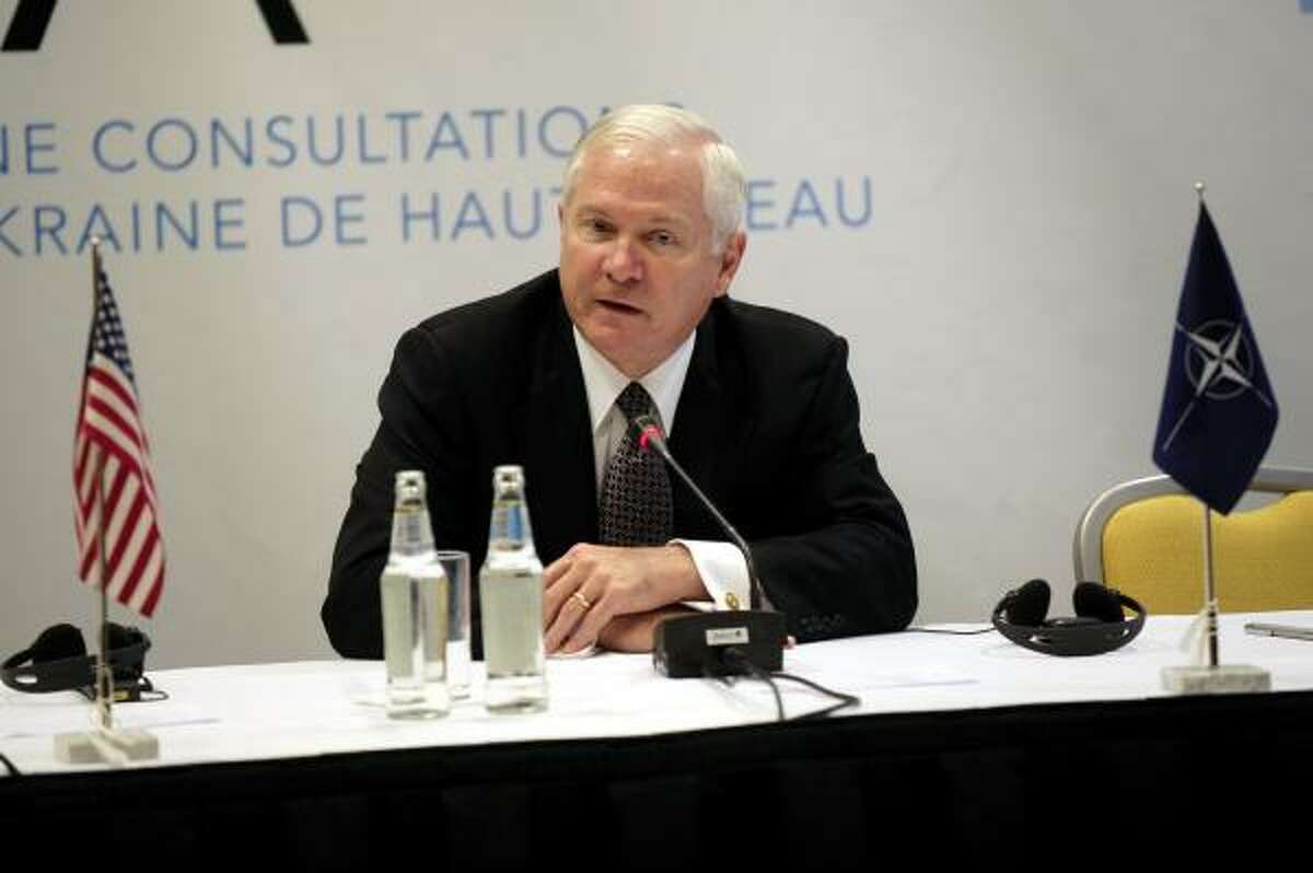 DEFENSE SECRETARY Current U.S. Secretary of Defense Robert Gates, a moderate Republican with long-standing ties to the Bush family