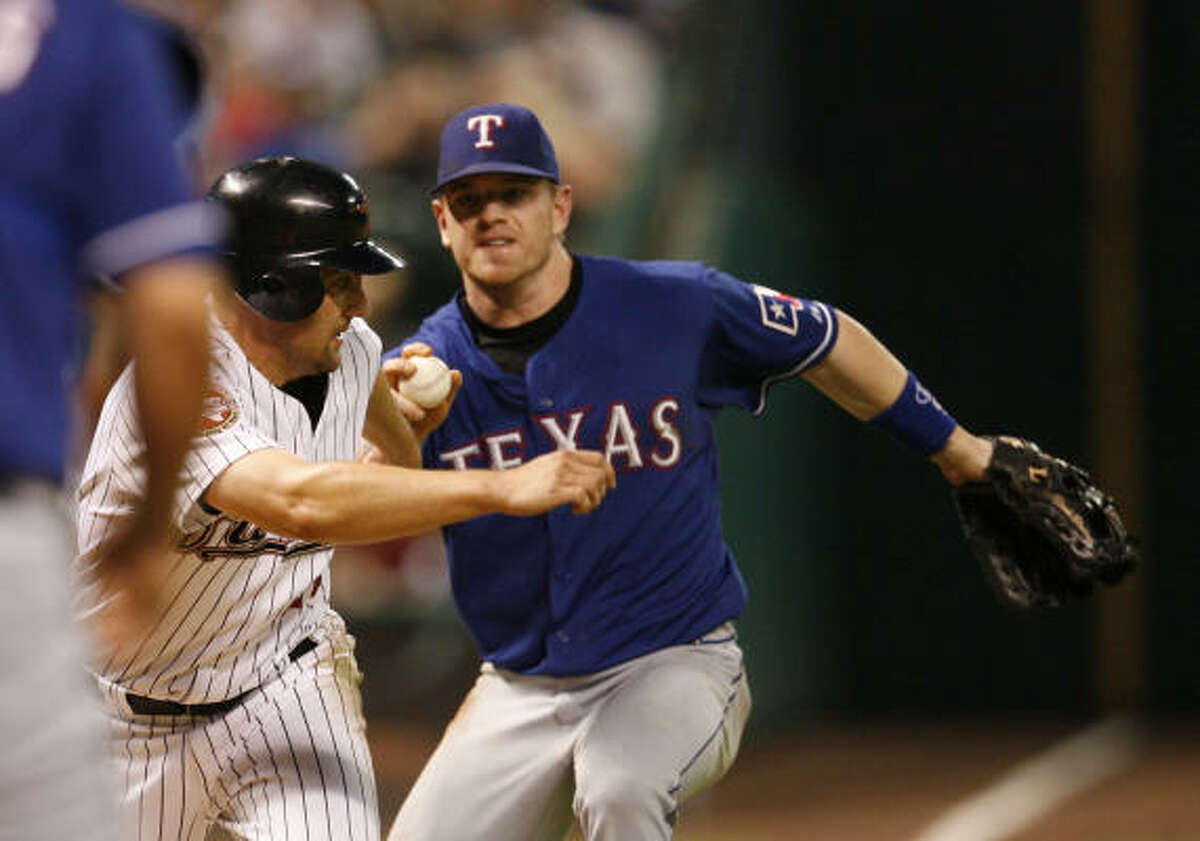 """Who : First baseman/third baseman Hank Blalock. Team that signed his last paycheck: Rangers. Key """"30"""" stat: Has hit more than 30 home runs just once with 32 in 2004. When does he turn 30?: Nov. 21, 2010."""