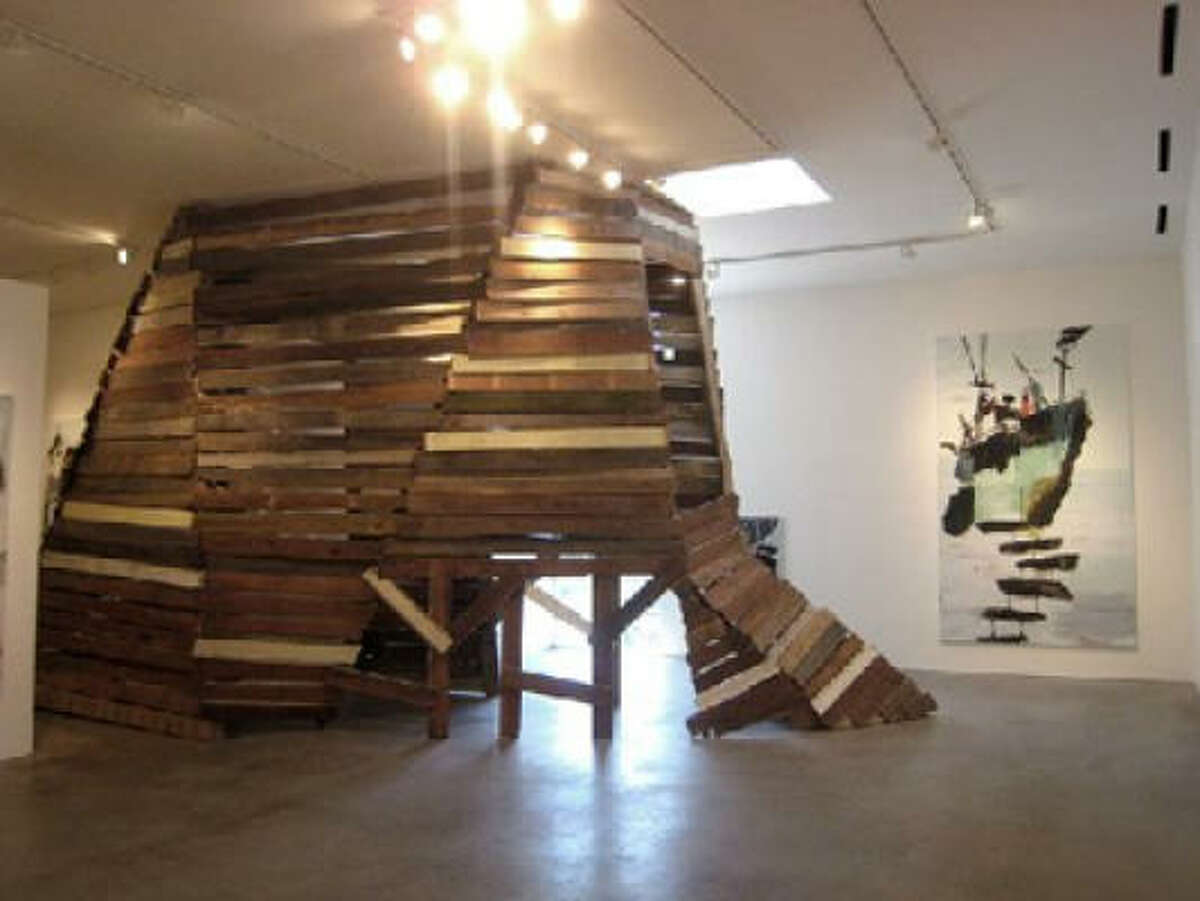 Mie Olise Kjaergaard: Penetrating Pores of Construction at Barbara Davis Gallery
