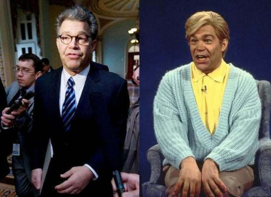 Al FrankenThe Minnesota Canvassing Board declared former Saturday Night Live cast member Al Franken the winner of Minnesota's long-fought Senate contest. Franken played Stuart Smalley, right, an optimistic self-help guru. His opponent, Norm Coleman, plans to challenge him in court. Photo: Associated Press File Photos