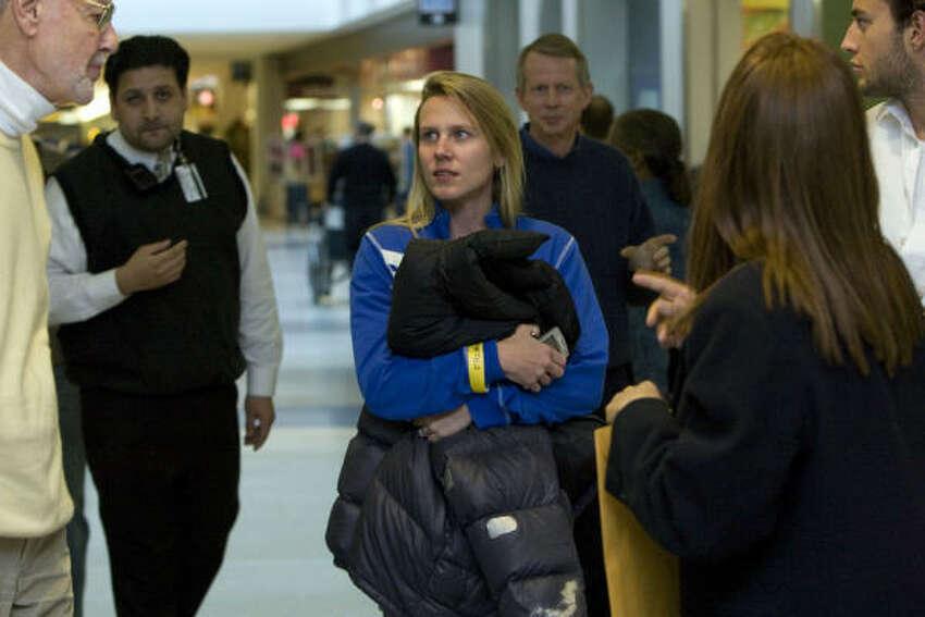 Ashley Davis, de Boulder, pasajera del vuelo.