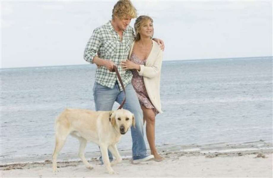 No. 1:In this image released by 20th Century Fox, Owen Wilson and Jennifer Aniston are shown in a scene from Marley and Me. Photo: Barry Wetcher, 20th Century Fox