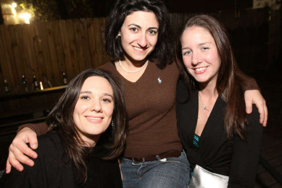 CONTINENTAL CLUB: Jennifer Bass, Dion Aviki and Megan Daigle. Photo: Bill Olive, Special To The Chronicle