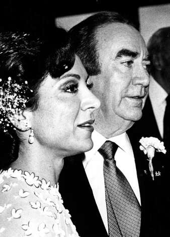 GOV. HUGH CAREY and his wife, Evangeline, on their wedding day  4/12/81 -  (Times Union Archive) Photo: Tom LaPoint