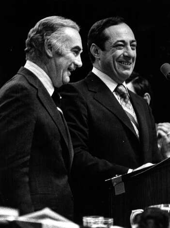 DEMOCRATIC STATE CONVENTION--Hugh Carey and Mario Cuomo 6/78. (Times Union Archive) Photo: Paul D Kniskern, Sr.