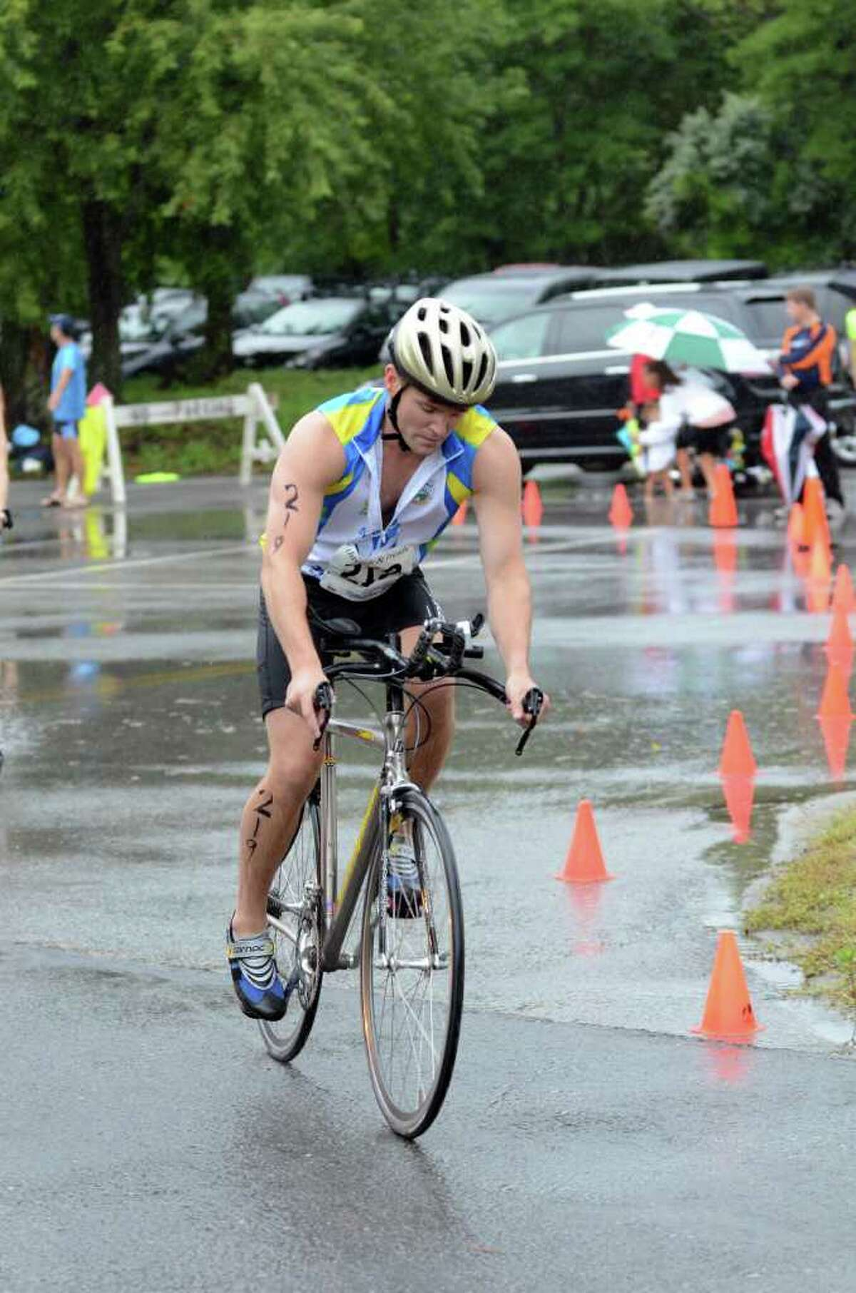 The Volvo of Stamford Greenwich Cup Triathlon at Greenwich Point on Sunday, Aug. 7, 2011.