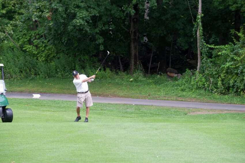 Alex Lionetti in action during the Stamford Amateur Golf Championships at Sterling Farms Golf Course in Stamford, Conn., August 8, 2011.