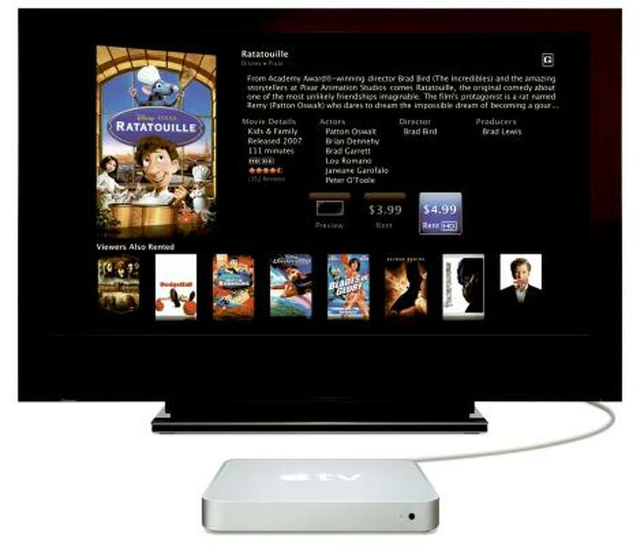 The second version of Apple TV offers high definition and surround sound with a free software upgrade. Photo: APPLE