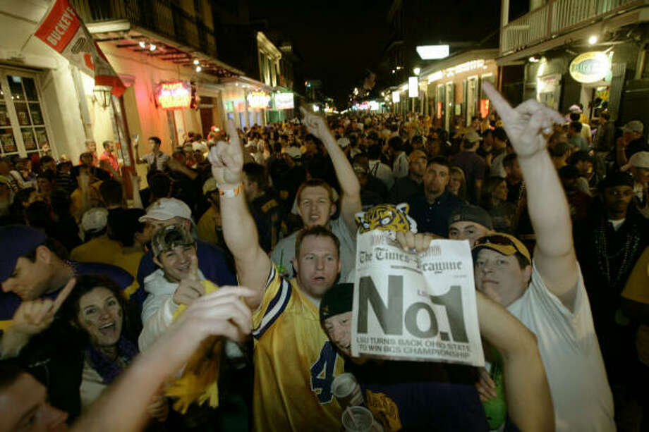 Unlike last time with USC, LSU's fans can say they have the sole claim as the best team in the United States. Photo: Keith Srakocic, AP