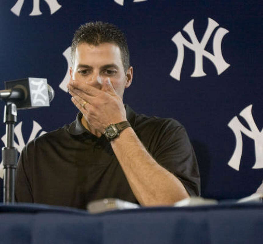 Andy Pettitte said Monday that he didn't want to have to drag his father into his controversy but felt he had to tell the truth. Photo: Robert Browman, Getty Images