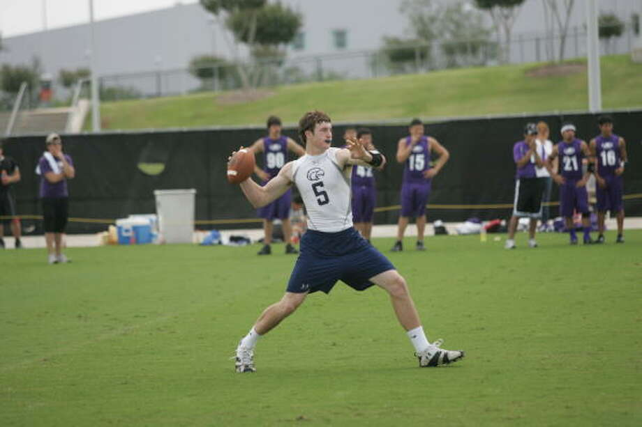 Quarterback Connor Wood and Second Baptist will be going after a 7-on-7 Division II state championship this weekend at Texas A&M in College Station. Photo: Matthew White, For The Chronicle