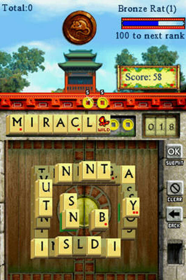 A screen grab shows a scene from WordJong, which mixes two old favorites, Scrabble and Mah-Jong. Photo: Associated Press