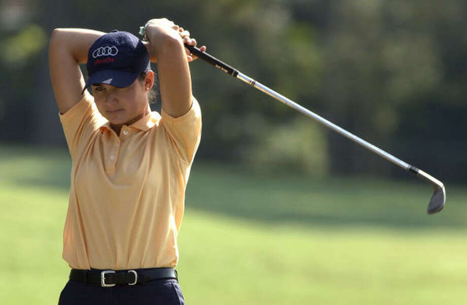 Lorena Ochoa was already headed for good things when she appeared at a tourney in The Woodlands in 2003. Photo: Chronicle File