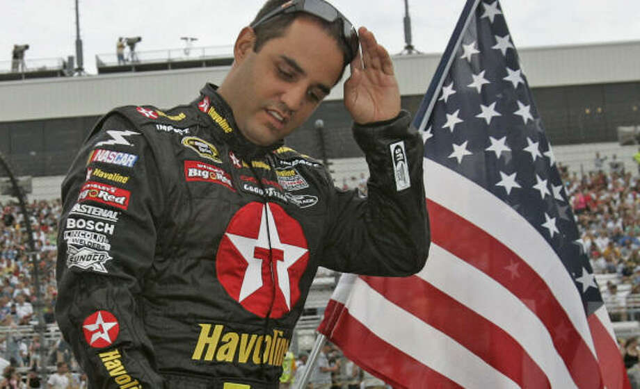 Juan Pablo Montoya wants to see what his crew can do in a pits competition this week. Photo: Steve Helber, AP