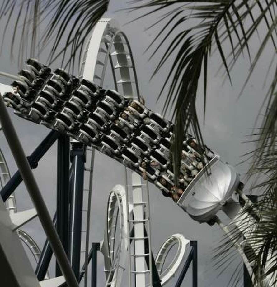 Visitors to the Hard Rock Park will get a thrill riding the Led Zeppelin roller coaster. Photo: MARY ANN CHASTAIN PHOTOS, ASSOCIATED PRESS
