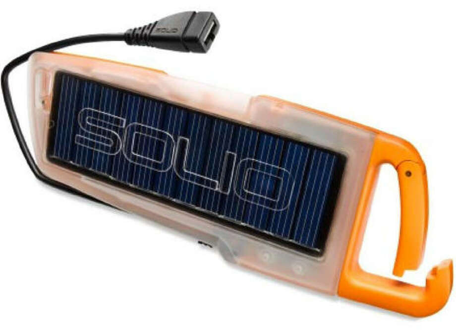 Campers, hikers and cyclists may enjoy the Solio Hybrid 100 Charger. Photo: Solio