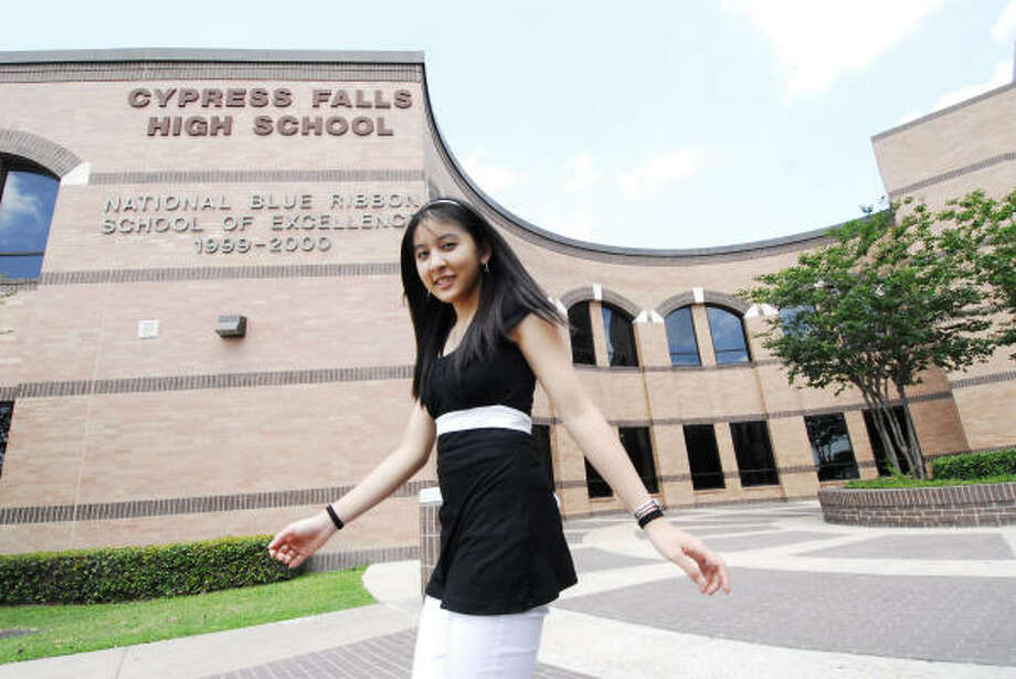Christy Nguyen at Cypress Falls High School Photo: Tony Bullard, For The Chronicle