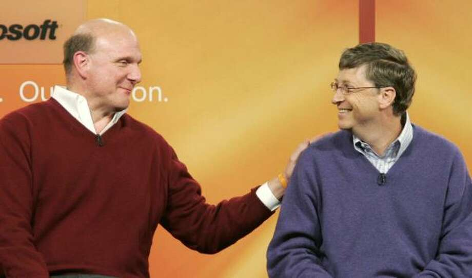 Microsoft CEO Steve Ballmer and Gates announced Gates' transition plan in June 2006. Photo: TED S. WARREN, AP