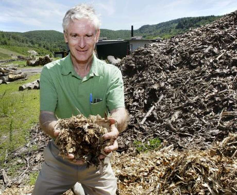 Bill Hull, founder of Hull Forest Products, is one of the developers of a proposed 50 megawatt power plant in western Massachusetts using wood chips as an energy source. Photo: CHARLES KRUPA, ASSOCIATED PRESS