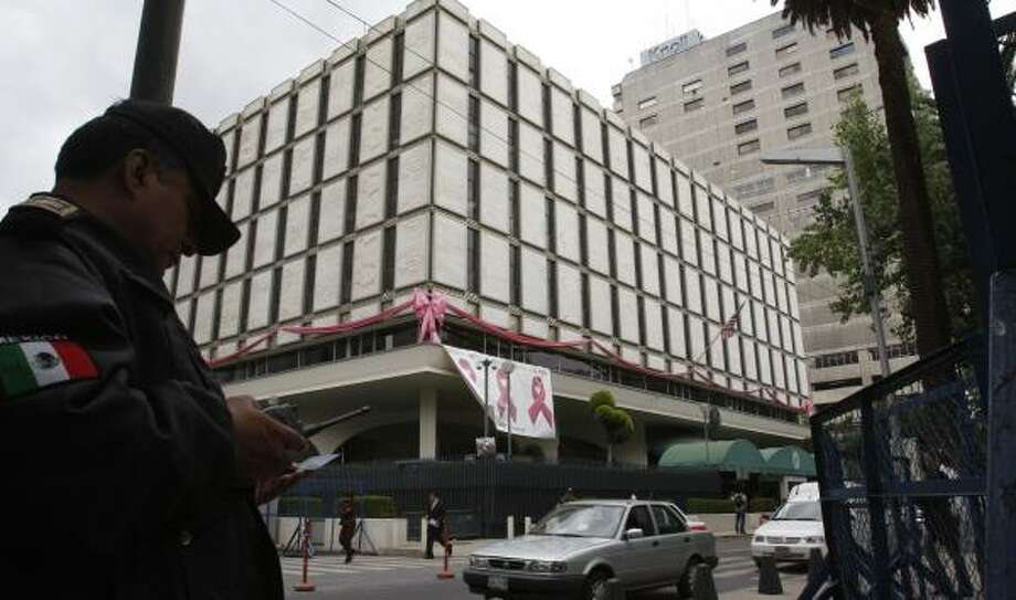 Mexican prosecutors say one major drug cartel worker told them that he infiltrated the U.S. Embassy in Mexico City, seen here. Photo: MARCO UGARTE, ASSOCIATED PRESS