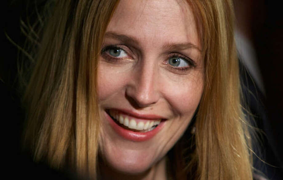Actress Gillian Anderson gave birth to son Felix on Oct. 15. Photo: Kristian Dowling, Getty Images