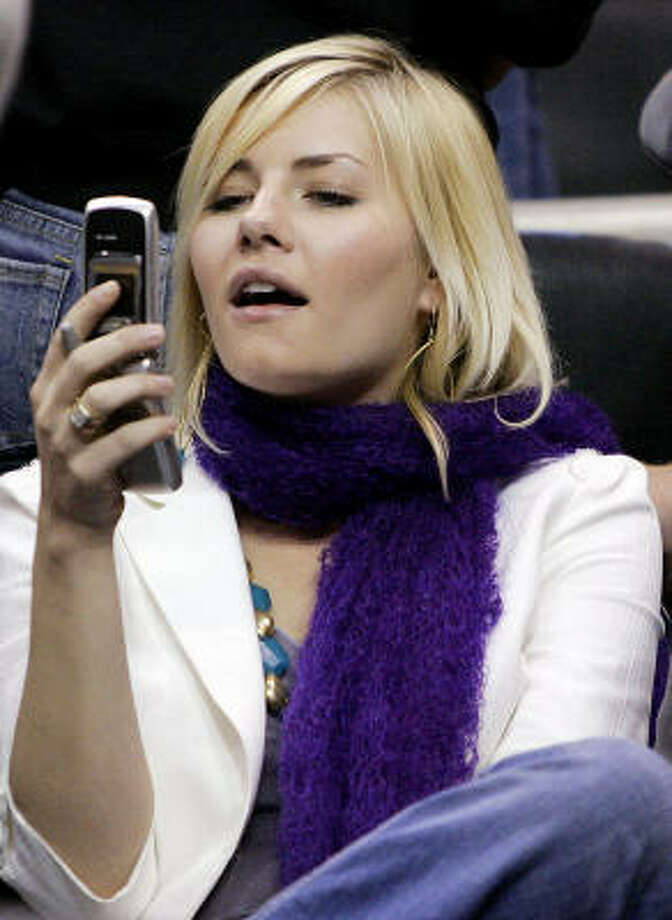 The cause of all the fuss: Elisha Cuthbert. Photo: KEVORK DJANSEZIAN, AP