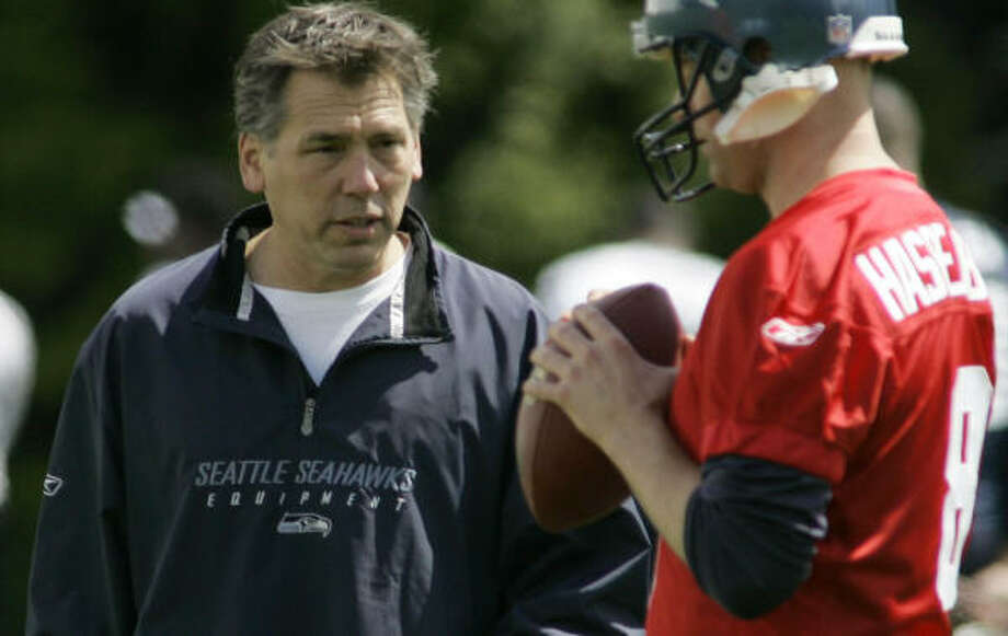 Jim Zorn, a former Seattle quarterback, has been the Seahawks' quarterbacks coach for the past seven years. Photo: Ted S. Warren, AP