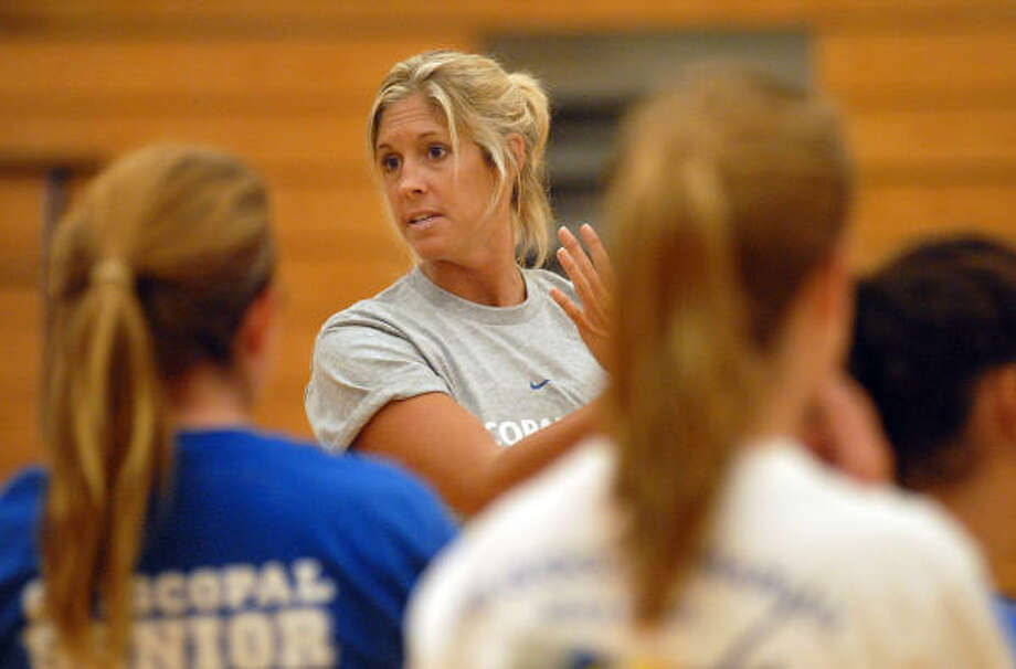 New Episcopal volleyball coach Megan LaBernz has big plans for the Knights this season, who hope to return to the upper echelon of the Southwest Preparatory Conference. Photo: Dave Rossman, Chronicle