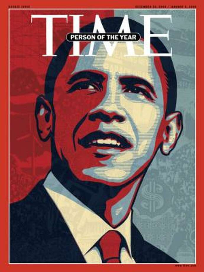 In one of its least surprising choices ever, Time magazine chose President-elect Barack Obama as its 2008 Person of the Year. Time said Obama earned its award for having the confidence to sketch an ambitious future in a gloomy hour, and that he showed the competence that makes Americans hopeful he might pull it off. Photo: ASSOCIATED PRESS