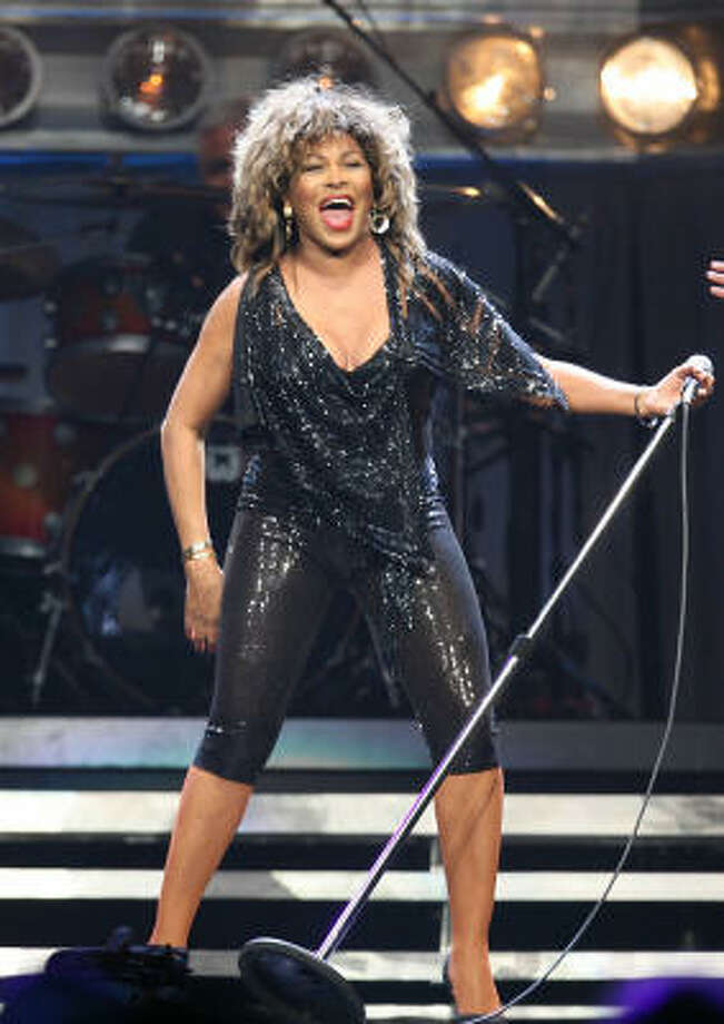 Tina Turner performs in a sold out concert at the Toyota Center on Monday, Oct. 27, 2008 in Houston. Photo: Mayra Beltran, Houston Chronicle