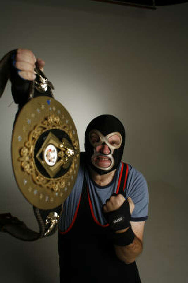 "Eric Dieckman transforms into Bill ""The Thrill"" Korczynski when he steps into the ring. Photo: Steve Ueckert, Chronicle"