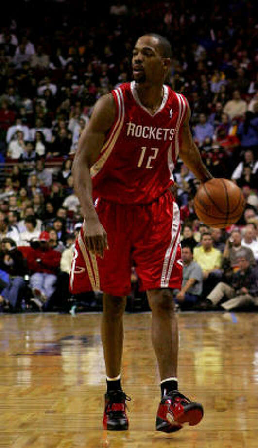 Rockets guards Rafer Alston (pictured) and Tracy McGrady lead the Rockets with 5.4 assists per game. The Rockets would be the only NBA team with two players among the top 20 in assists if McGrady had played enough games to qualify to be listed among the league leaders. Photo: Sam Greenwood, Getty Images