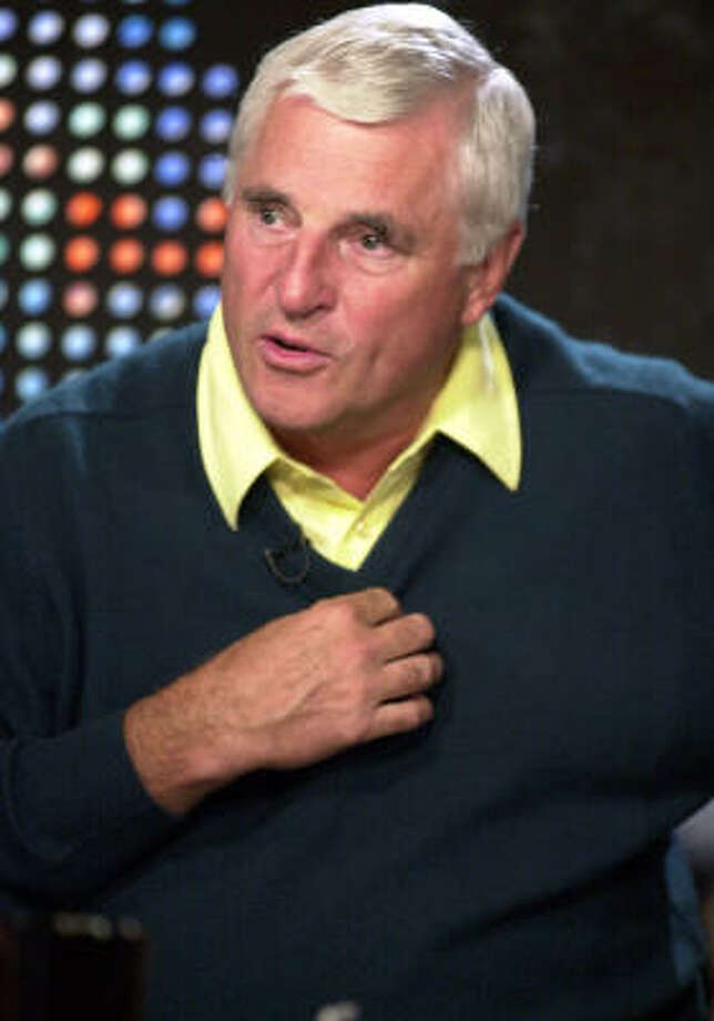 Bob Knight appeared on Larry King Live in 2001 after leaving Indiana. Photo: KIM D. JOHNSON, AP