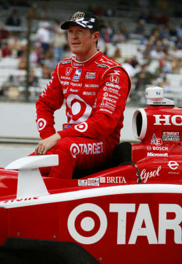 Scott Dixon, who has three pole positions in five tries in the IndyCar Series this season, got the biggest benefit of the team strategy, canceling out a four-lap average of 225.178 mph earlier in the day and making it pay off with four laps at 226.366 that held up for Ganassi's third Indy pole. Photo: Gavin Lawrence, Getty Images