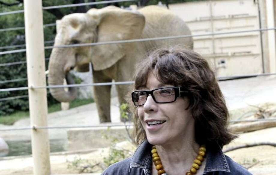 "Comedian Lily Tomlin says Jenny the elephant's treatment is ""heartbreaking,"" and that the beast needs to be sent to a refuge. Photo: LM OTERO, ASSOCIATED PRESS"