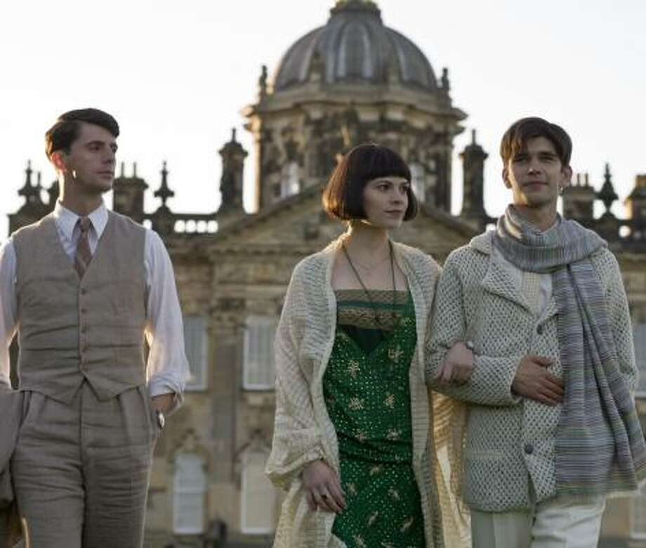 In Brideshead Revisited, Charles Ryder (Matthew Goode, left) forms friendships with Julia Flyte (Hayley Atwell) and Sebastian Flyte (Ben Whishaw). Photo: NICOLA DOVE, MIRAMAX FILMS