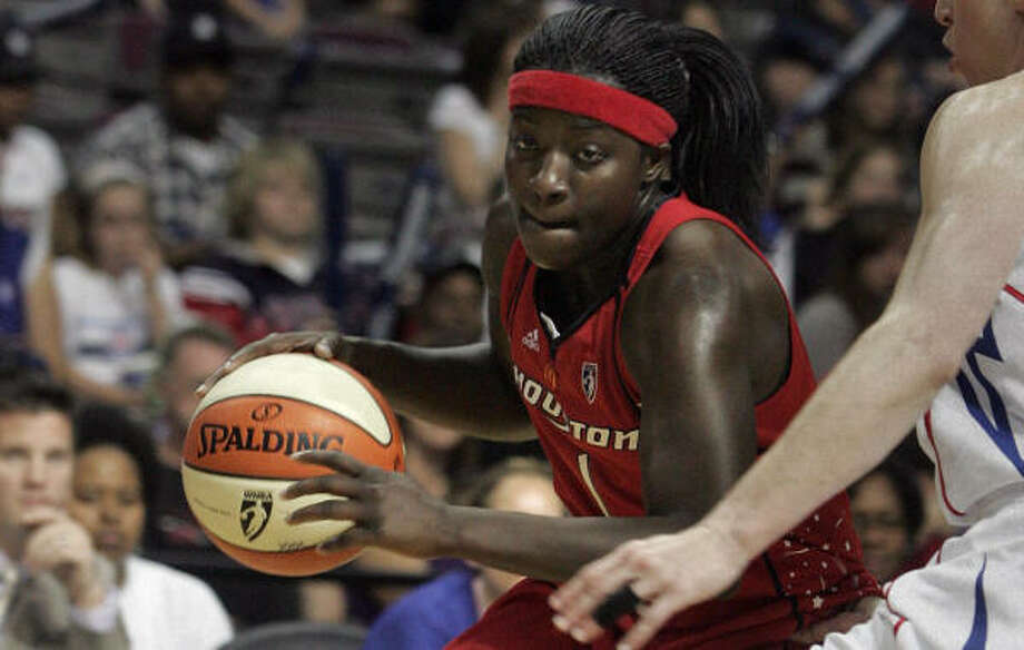 Comets rookie Matee Ajavon had 12 points in her regular-season WNBA debut. Photo: Jerry S. Mendoza, AP
