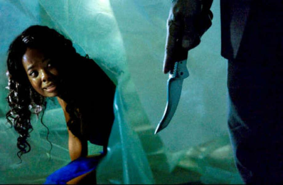 Dana Davis stars in the horror film Prom Night. Photo: Screen Gems/Sony Pictures
