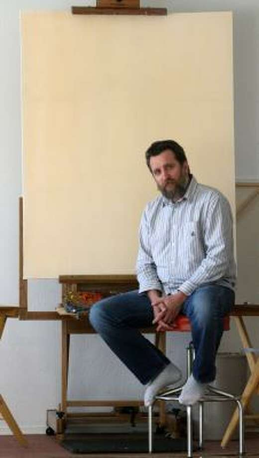 Aleksander Titovets was selected to paint the first lady. Photo: RUDY GUTIERREZ, EL PASO TIMES